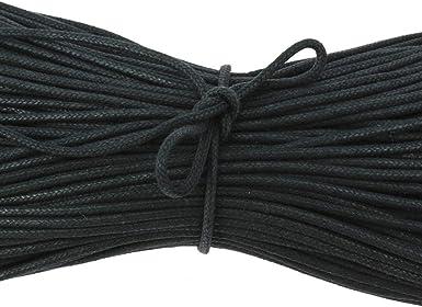 Les lacets Fran/çais 2,5mm Fabriqu/é en France. Uni Lacet rond et fin Noir Coton