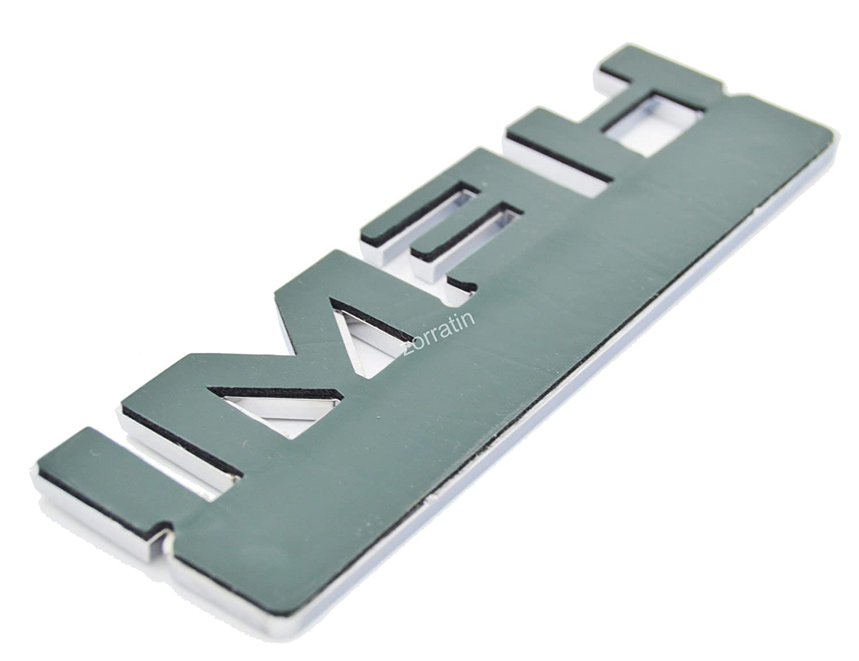 2PCs zorratin HEMI Matte Black wih red 5.7 LITER Chrome 3D Side Pillar Door Fender Trunk Emblem Badge Plate Decal with Sticker Set for Dodge Charger Ram 1500 Challenger Jeep Grand Cherokee
