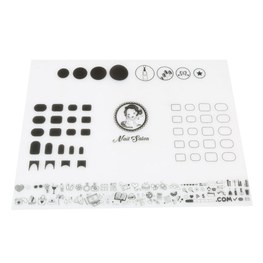 VWH Workspace Stamping Silicone Nail Mat Rollable Nail Art Tool (E)