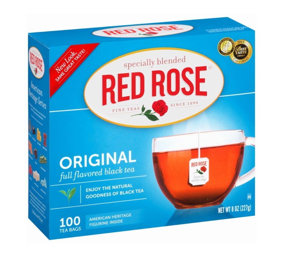 Red Rose Original Premium Blended Tea 100 ct (Pack of 2)