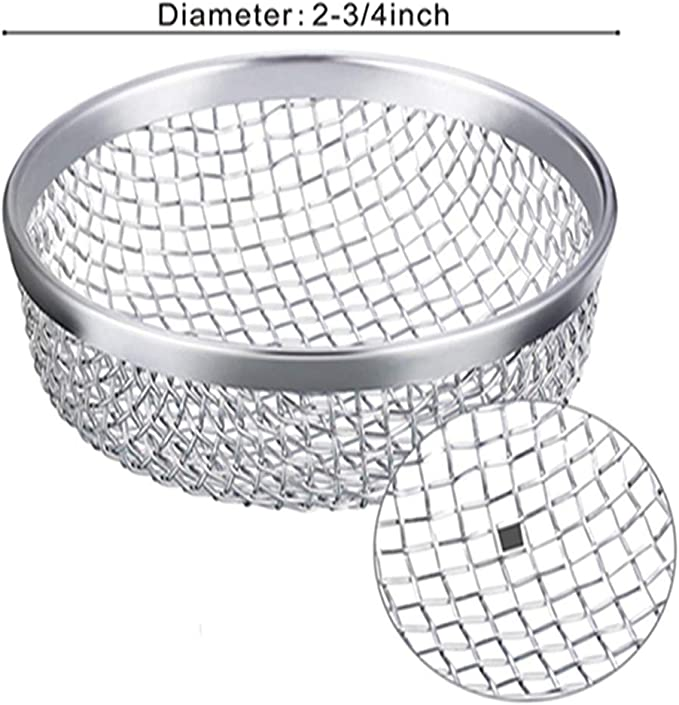 KKmoon Stainless Steel Flying Insect Screen RV Furnace Vent Cover Mesh with Installation Tool