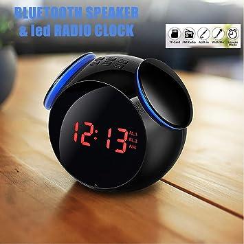 Amazon.com: Bluetooth Radio Reloj Despertador con Altavoz ...