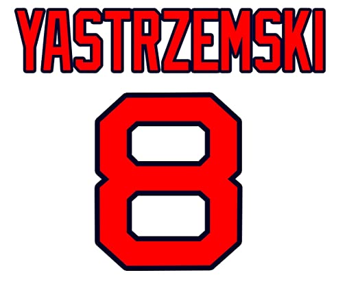 Carl Yastrzemski Boston Red Sox Jersey Number Kit, Authentic Home ...