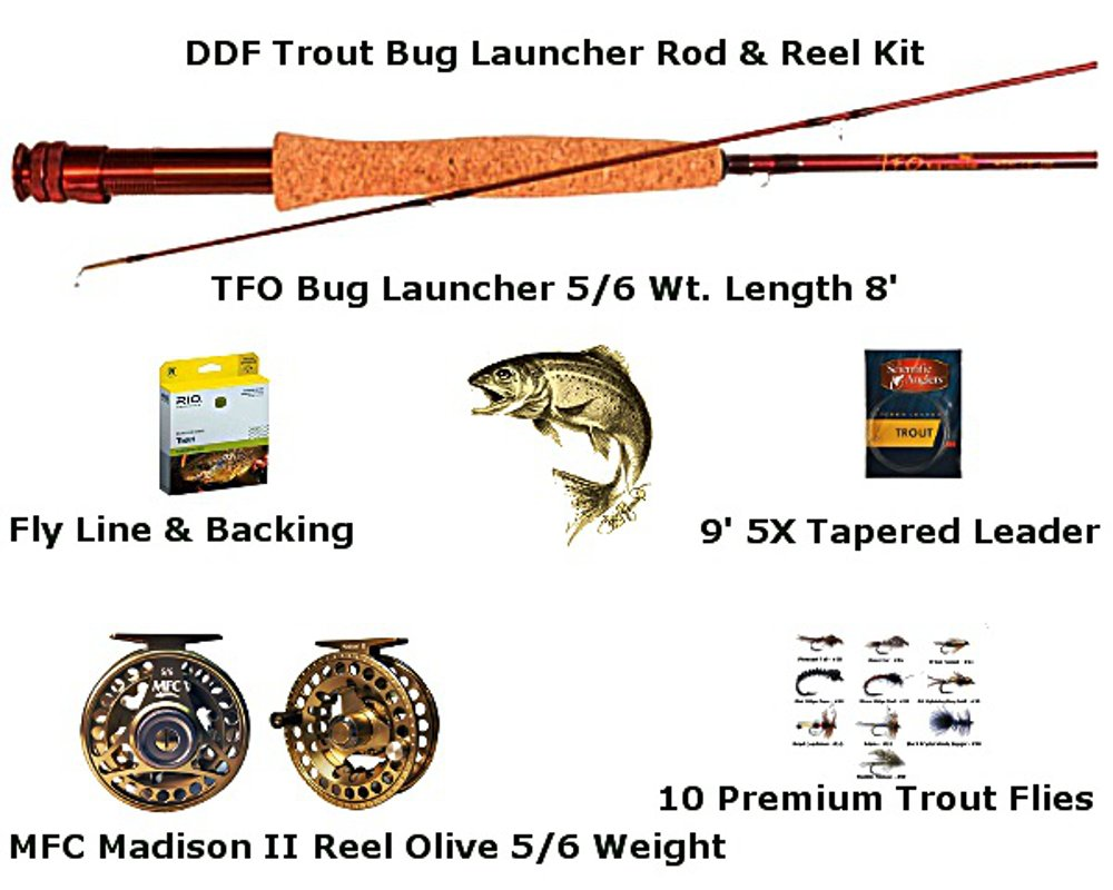 Trout Bug Launcher Rod & Reel Kit by Fly Rod Combos