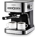 AEVOBAS Macchina Caffè, Macchina Caffè Espresso Italiano Spina e Manuale con Pompa 15 Bar in Acciaio Inox, Ideale per Caffe, Cappuccino e Moka (Spina IT)