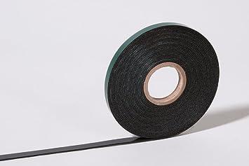 Cinta adhesiva de espuma de doble cara, color negro, 9 mm x 5 m, uso en automoción, para embellecedores y placas de matrícula: Amazon.es: Bricolaje y ...