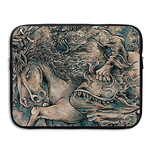 Summer Moon Fire Business Briefcase Sleeve Horse Snake Lapto