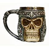 MEGAUS Creative 3D Skull Mug Stainless Steel 301-400ml Beer Coffee and Tea Cup Gift for Man