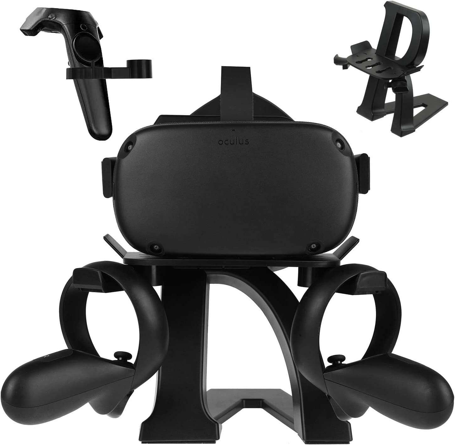 New Upgrade VR Letter Modeling Stand for Oculus Rift S, Headset Display Holder and Controller Holder Mount Station for Oculus Quest/HTC Vive Pro/Valve Index VR Headset and Touch Controllers