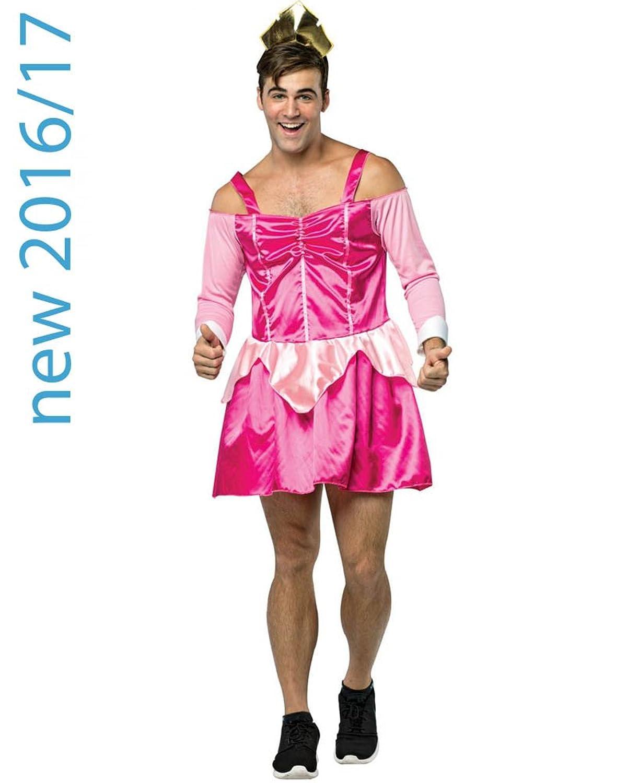 New Mens Sleeping Boozy Pink Princess Stag Do Fancy Dress Costume ...