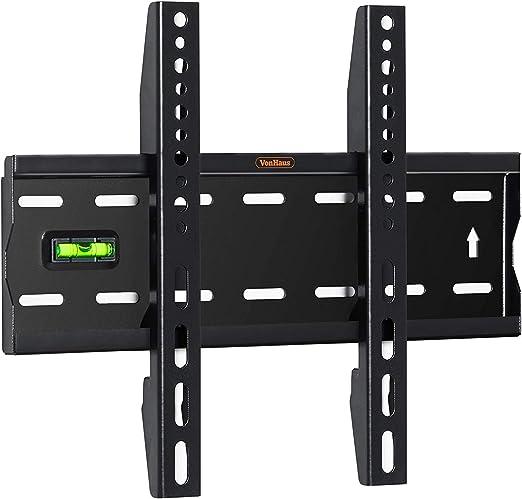 VonHaus Soporte de Pared para TV de 15-42 Pulgadas (38-107cm) - Montaje Plano a Pared para Pantallas Compatibles con VESA, 40kg de Capacidad de Peso