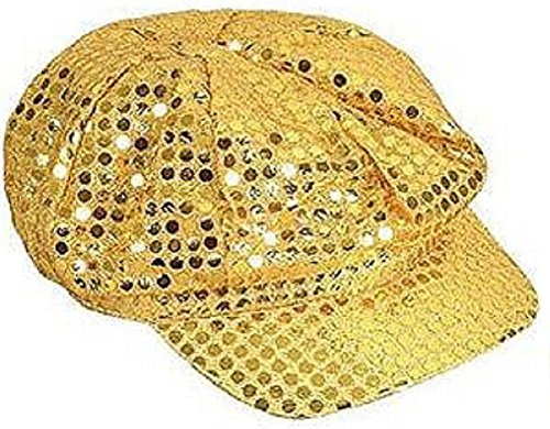 Gold Disco Paperboy Sequin Newsboy Hat -