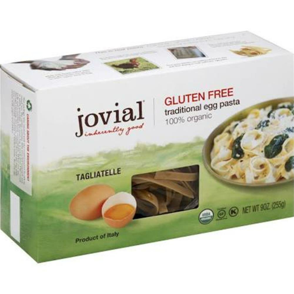 Jovial Organic Brown Rice Egg Tagliatelle Pasta, 9 Ounce - 12 per case. by Jovial