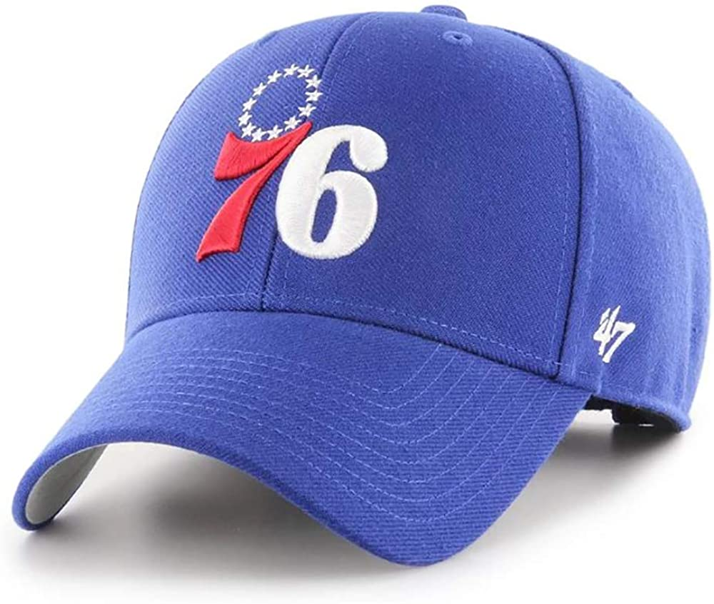 47 Philadelphia 76ers MVP Hat Structured Adjustable Cap Blue
