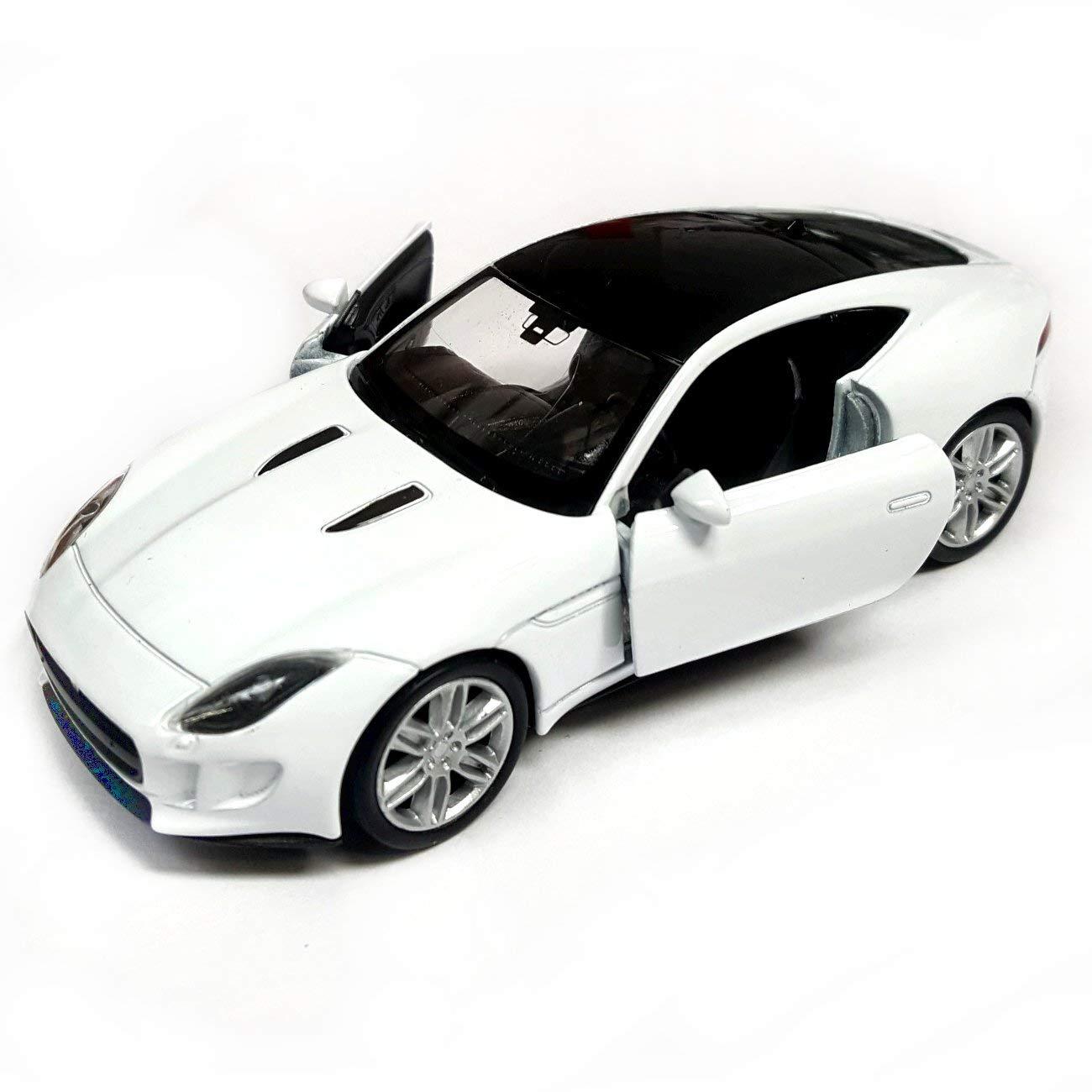 F Type Coupe >> Amazon Com Die Cast White Jaguar F Type Coupe Model Toy Car