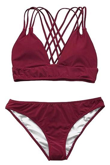 Cupshe Women's Get Cross Straps Bikini by Cupshe