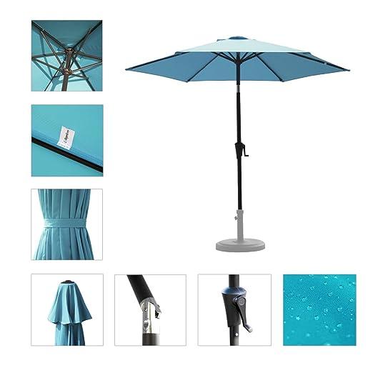 amazon com c hopetree 75 round outdoor patio market umbrella