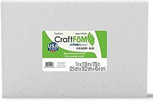 FloraCraft CraftFōM Block 1 Inch x 11.9 Inch x 17.9 Inch White
