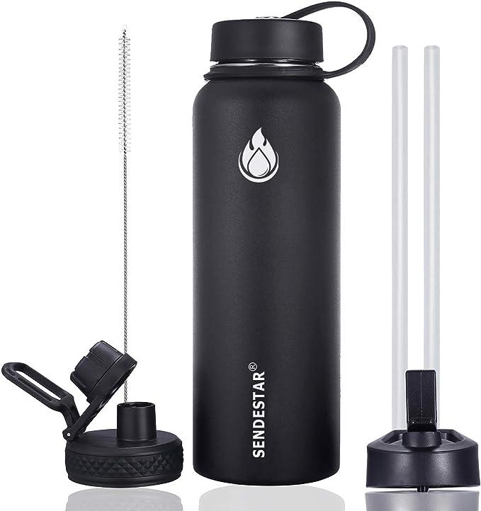 Amazon.com: Sendestar - Botella de agua de acero inoxidable ...