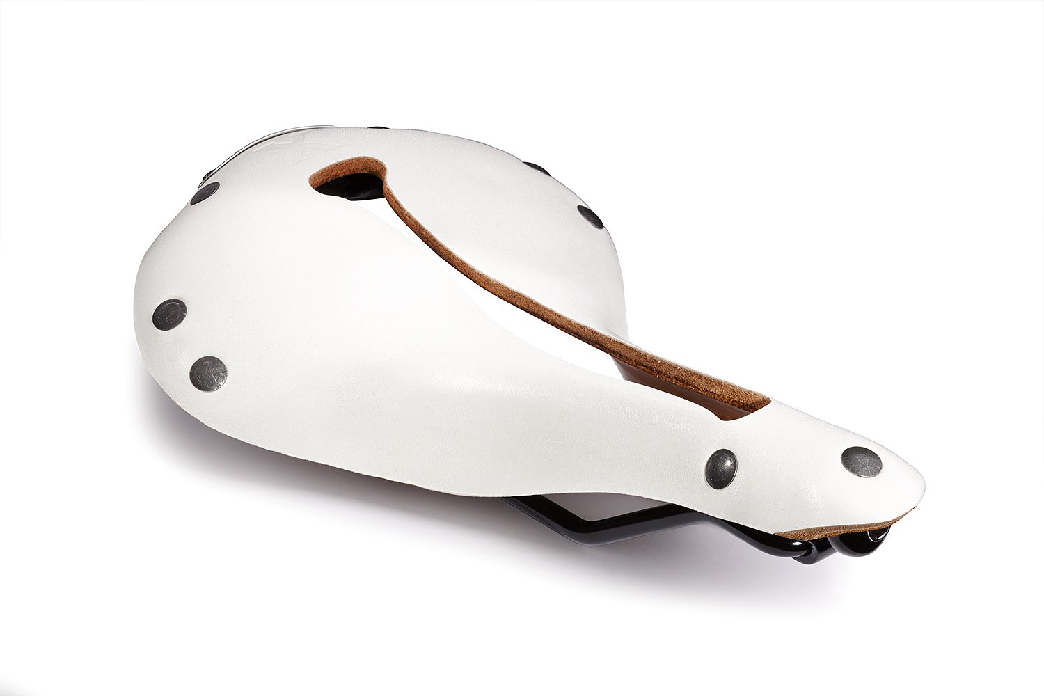 Selle Anatomica X Series Watershed White with Gunmetal Rivets