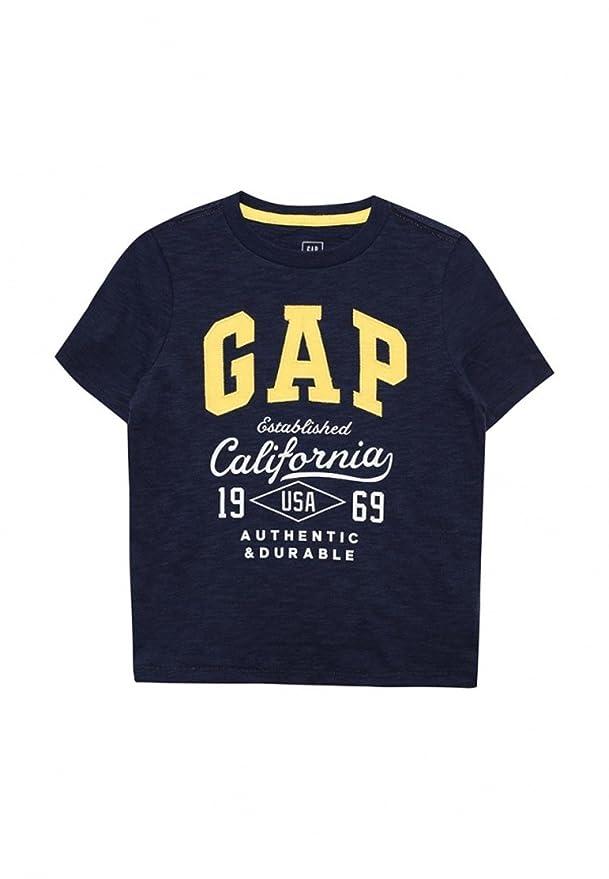 Gap - Camiseta de Manga Corta - para niño Azul Azul XXL: Amazon.es: Ropa y accesorios