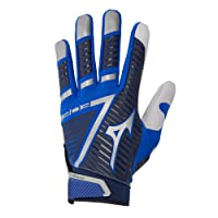 Mizuno B-303 Adult Baseball Batting Glove, Navy-Royal, XX-Large