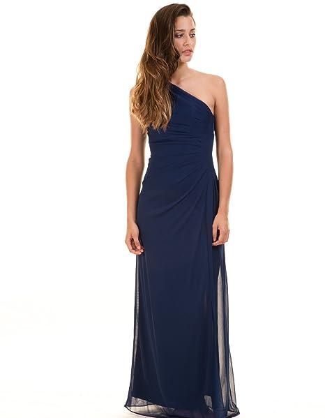 Vestido fiesta escote asimétrico visalome de Vila Clothes (XS - Azul)
