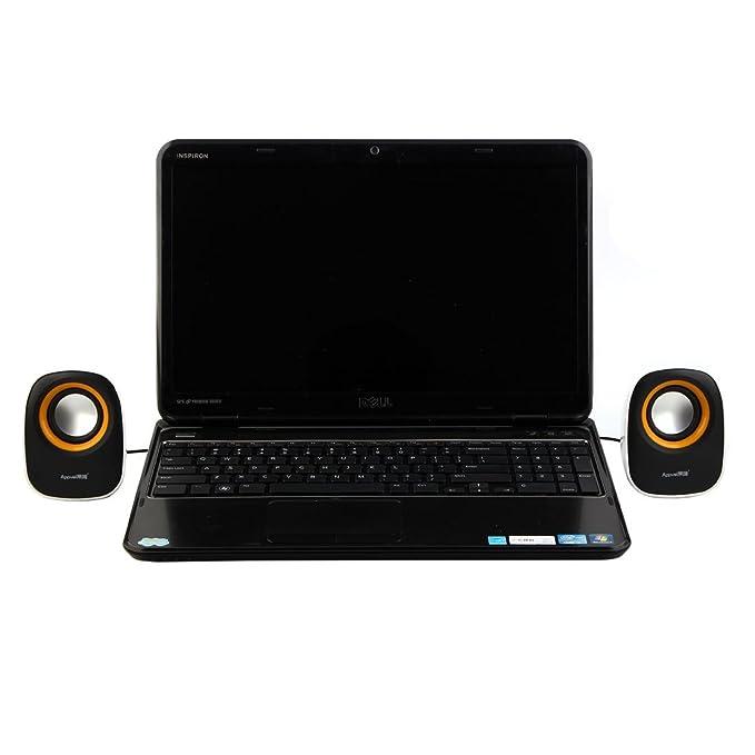 Amazon.com: eDealMax caja Plástico USB 2.0 DE 3,5 mm estéreo portátil del ordenador portátil Mini altavoces Multimedia computadora de escritorio Música Par ...