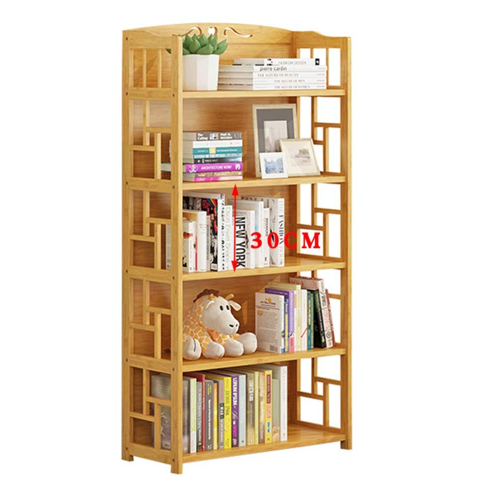 KELE Nature Bamboo Bookshelf Bookcase, Floor Simple Modern Children Book shelves Storage cabinets Creative Solid wood In home Kitchen-H 70X29X141m