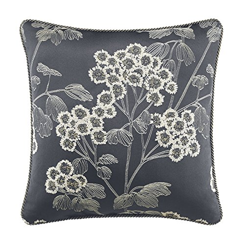 CROSCILL Paloma Square Pillow, Floral, Midnight