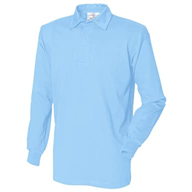 21b53d498a9aa1 Front Row Long Sleeve Plain Rugby Shirt - FR100, Blue, X-Large:  Amazon.co.uk: Clothing