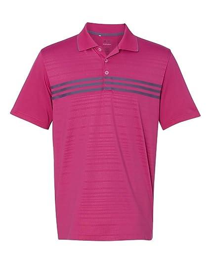 6f9ba98935c Amazon.com : adidas A124 Golf Puremotion 3 Stripes Chest Sport Shirt ...