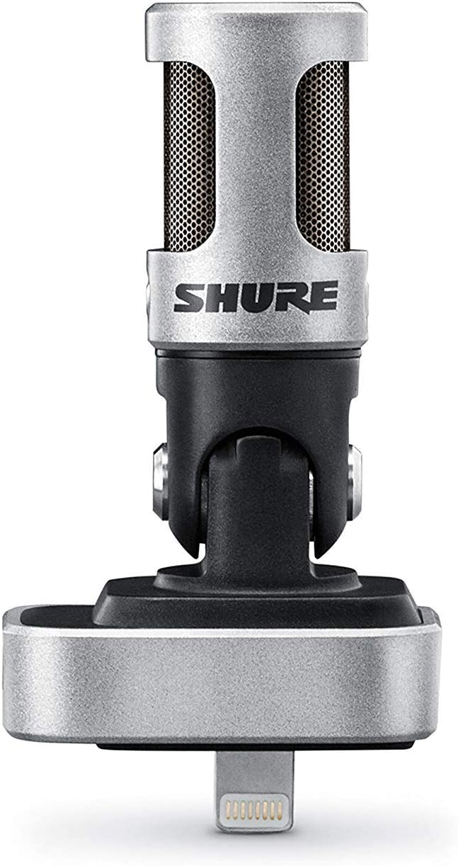 Amazon Com Shure Mv88 Portable Ios Microphone For Iphone Ipad Ipod Via Lightning Connector Professional Quality Sound Digital Stereo Condenser Mic For Vloggers Filmmakers Music Makers Journalists Musical Instruments