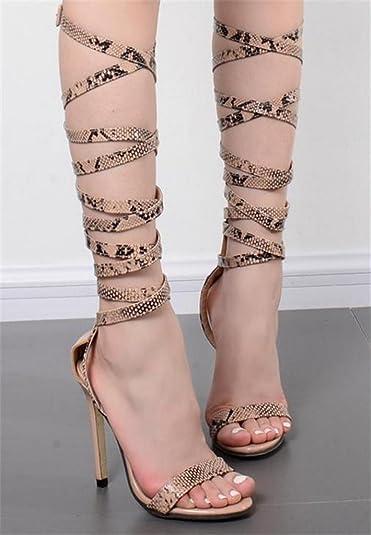Chaussures yu Femme Pour Sandales Lacets Lh Femmes À Yg67bfy