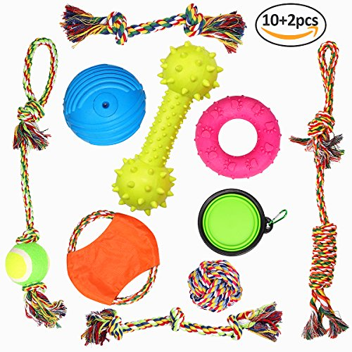 12 pack pets puppy dog rope toys variety pack for large dogs durable ropes for tough aggressive chewer by Originnt (Pack Durable)