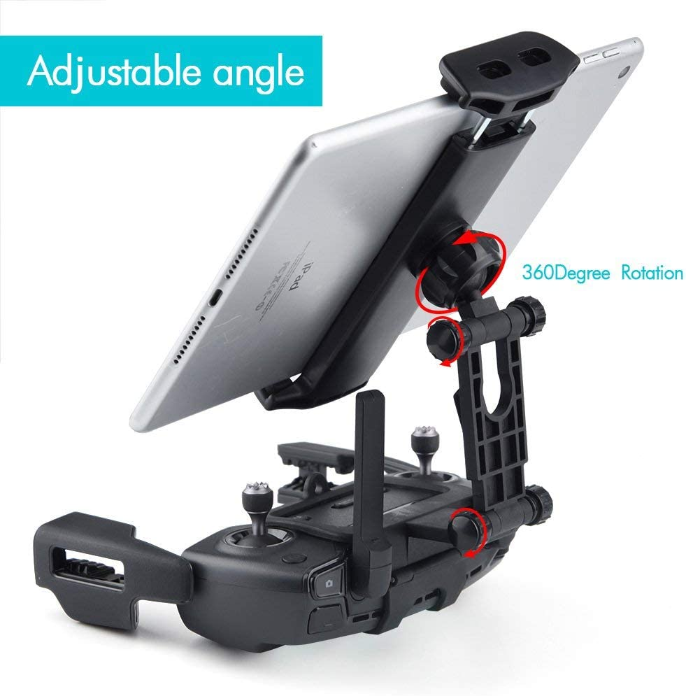 UTEC LIMITED Update Version 4-12 Inch Tablet Holder Bracket Mount Extender with Neck Lanyard Strap Compatible with Mavic Spark Remote Controller Device