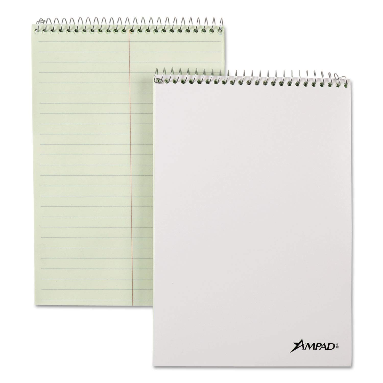 Ampad Spiral Steno Book, Gregg, 6 x 9, 20 lb, Green Tint, 80 Sheets, 6/Pack - 25278 (Pack of 2) by Ampad (Image #1)
