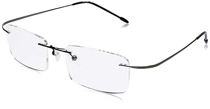 ca1a13cdda Image Unavailable. Image not available for. Colour  Titan Rimless  Rectangular Unisex Spectacle Frame ...