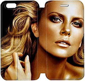 Flip Folio Leather Case for iPhone 6 4.7 inch Cell Phone Case Charlize Theron HPM4613444
