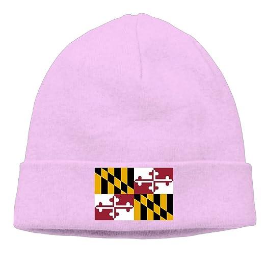 MUYS-KL Men   Women Flag Of Maryland Beanie Cap Knit Warm Fleece Lined Skull 922bb65b5a7