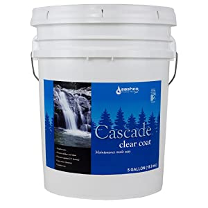 Sashco Cascade Exterior Weather Repellent, 5 Gallon Pail, Semi-Gloss Clear (Pack of 1)