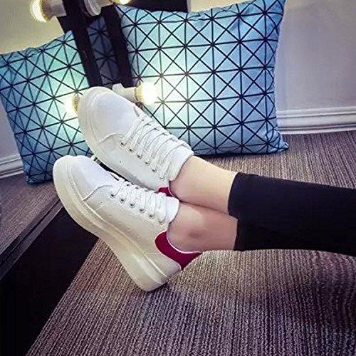 Mujer Los Zapatos Zapatos Rojo Mollete De Plataforma Del Casual Estilo Zapatos Moda Minetom Deportivos dfz6dx