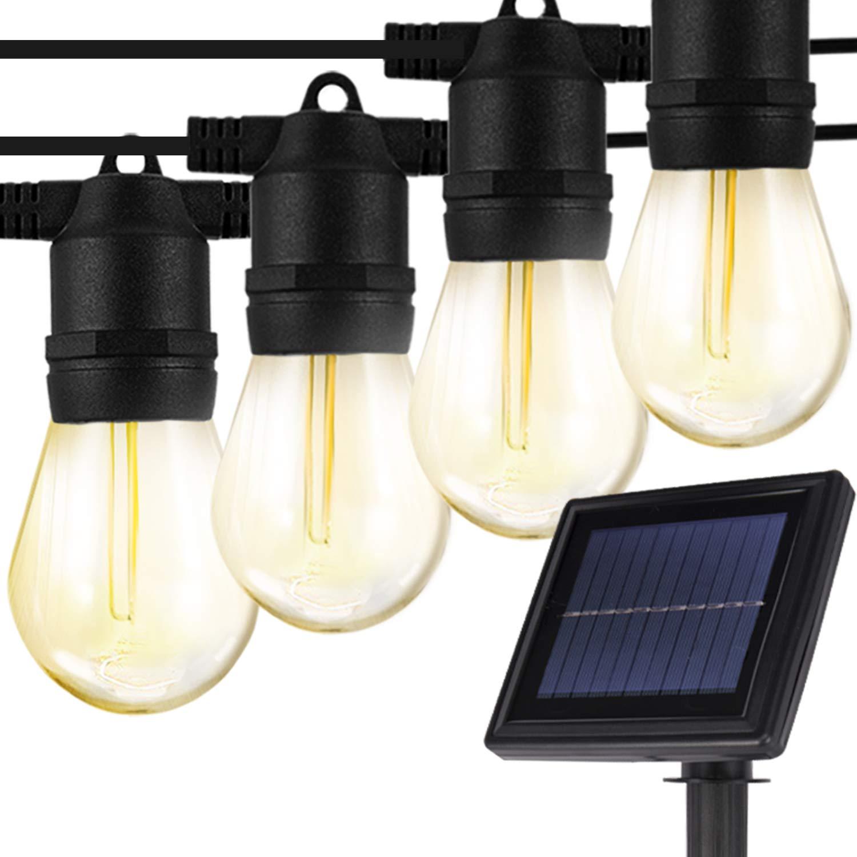 2189c9cc0f795 Addlon solar led outdoor string lights vintage edison jpg 1500x1500 Solar  led porch