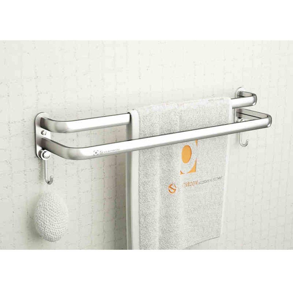 Estante de toalla de aluminio del espacio de baño WC toalla extendida estantes: Amazon.es: Hogar