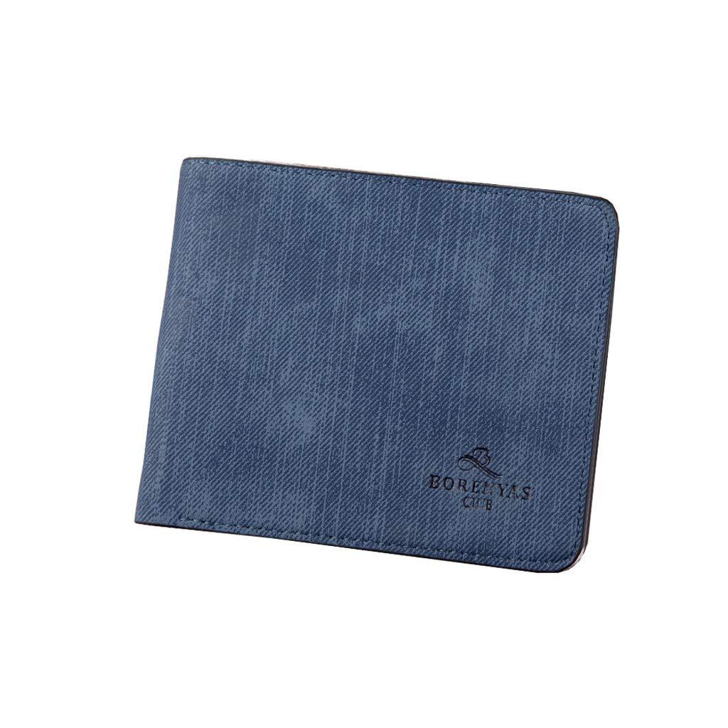 8cc66956bf31 Men's Wallet,PAQOZ Canvas Wallet Retro Short Wallet Multi-Card ...