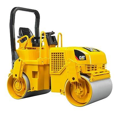 Bruder 02433 Caterpillar Asphalt Drum Compactor: Toys & Games