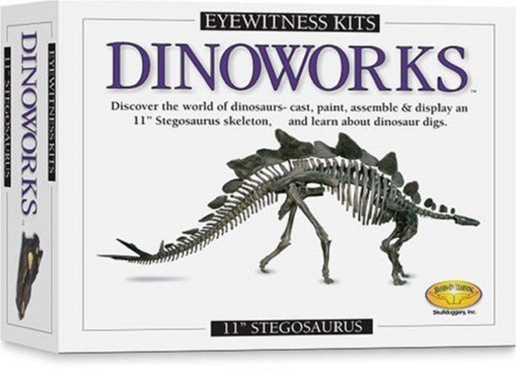 Skullduggery Eyewitness Kit Dinoworks Stegosaurus Skeleton Casting Kit