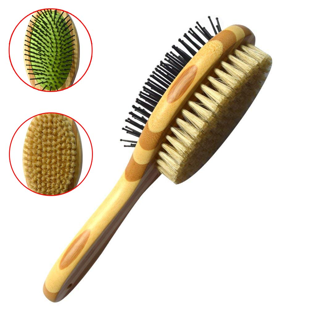 YXMxxm Pet Comb - Double-Sided Pet Grooming Brush for Dog and Cat - Cleans Pets Shedding & Dirt for Short Medium or Long Hair(2 Pack)