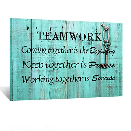 Canvas Quote Art | Amazon Com Kreative Arts Large Teamwork Definition Office Quotes