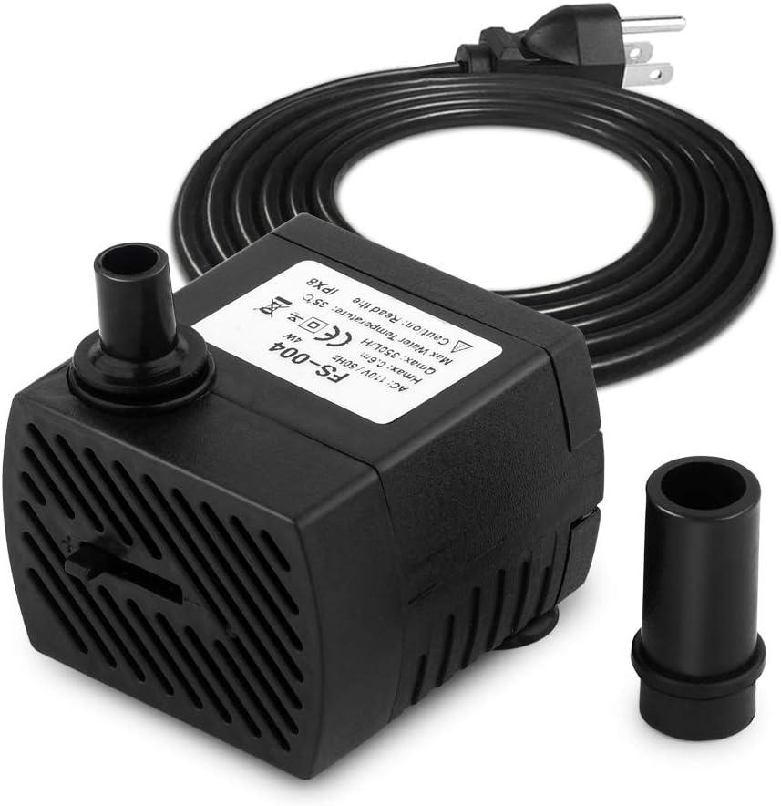 FREESEA 95 GPH 4W Ultra Quiet Mini Submersible Pump for Aquariums, Fish Tank, Pond, Fountain Water Pump (1PCS) : Pet Supplies